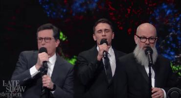 Michael Stipe y James Franco despiden al 2016 con una divertida canción