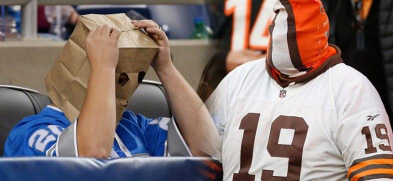 Detroit Lions 2008 y Cleveland Browns 2016