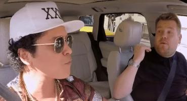 """Bruno Mars canta """"Uptown Funk"""" en un nuevo carpool karaoke"""