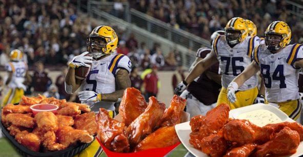 Jugadores de LSU se comen ¡cuatro mil alitas en una sentada!