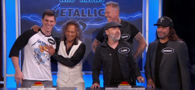 Metallica participa en trivia con Jimmy Kimmel.