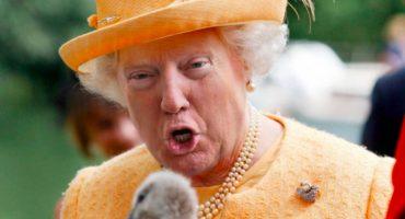 Este genio que fusionó a Trump con la Reina Isabel y el resultado es épico!