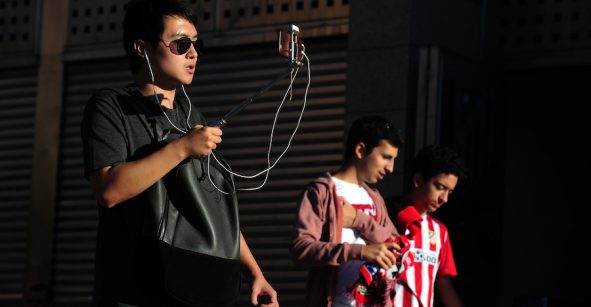 Usando smartphones