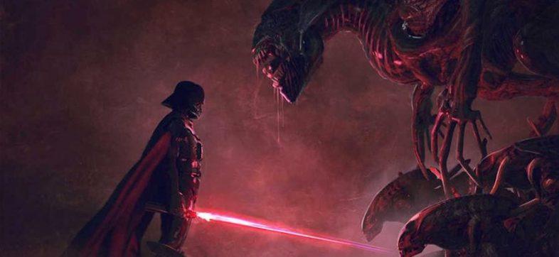 Darth Vader vs la reina Alien