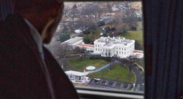Esta foto captó el último adiós de Barack Obama a la Casa Blanca