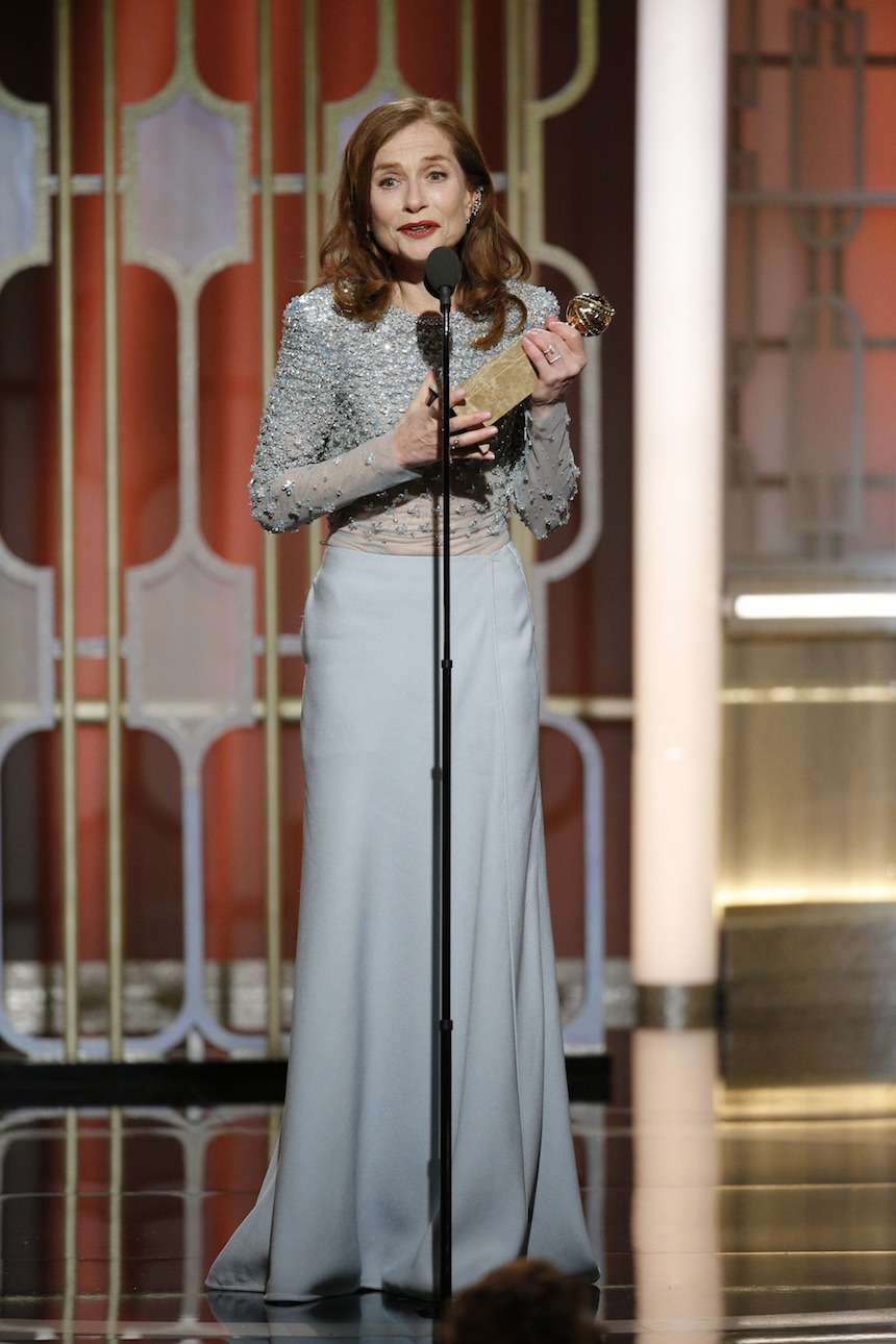 Isabelle Huppert - Golden Globes