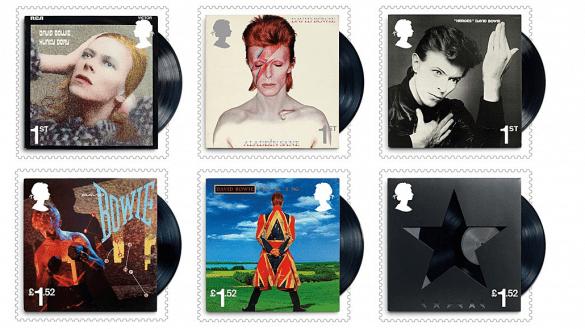 Estampillas de David Bowie.