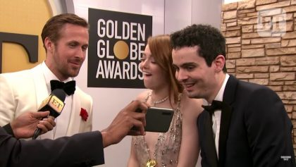 Emma Stone reaccionó al beso entre Andrew Garfield y Ryan Reynolds