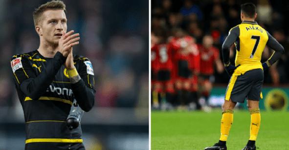 Marco Reus iría al Arsenal para cubrir posible salida de Alexis Sánchez