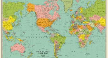 En este mapa no encontrarán países, pero sí muchas canciones