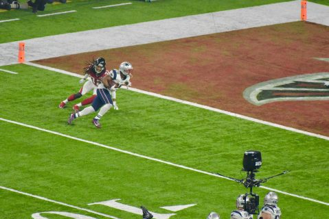 James White logra el primer touchdown de New England