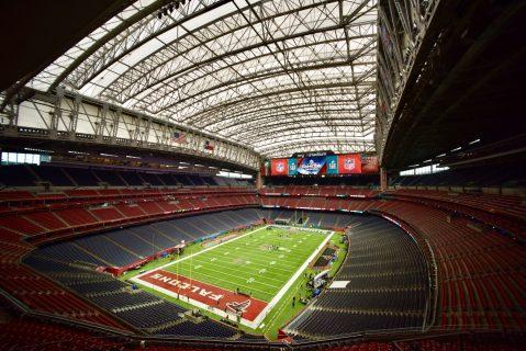 El Estadio NRG en Houston antes del SB LI