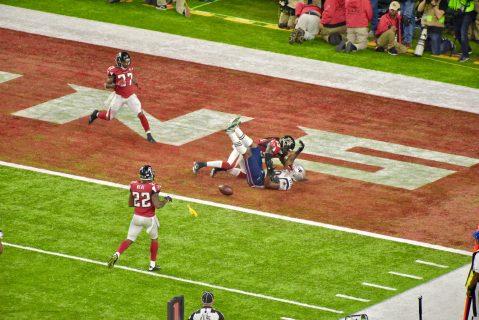 El pañuelo que puso a los Patriots en la yarda 1