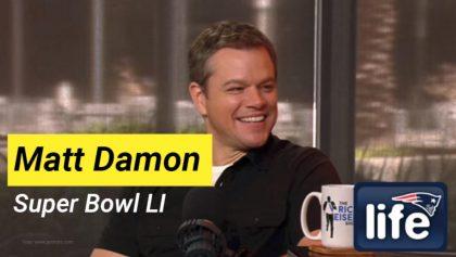 Matt Damon y su pronóstico del Super Bowl LI para Sopitas.com