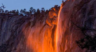 Yosemite y su cascada de fuego: el fenómeno que sólo ocurre en febrero