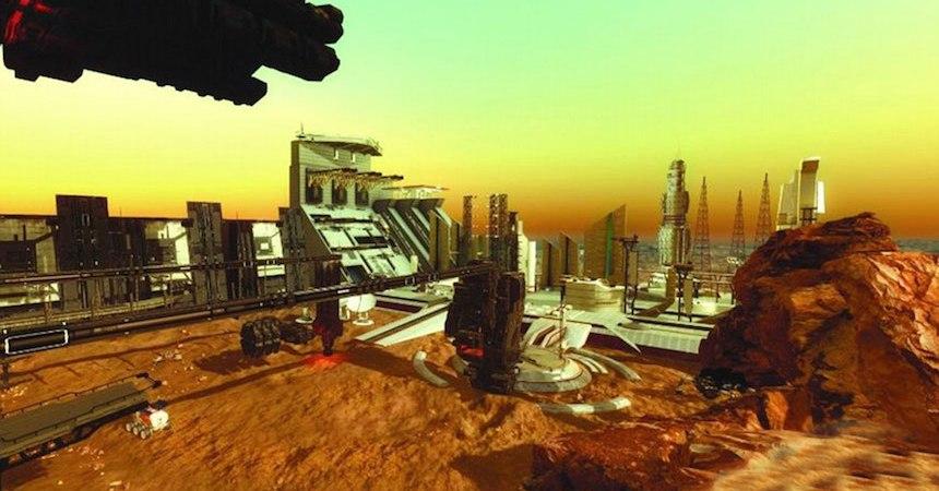 Ciudad en Marte de los Emiratos Árabes Unidos