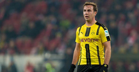 Mario Götze es baja del Borussia Dortmund por tiempo indefinido