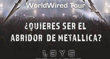 ATENCIÓN: Metallica busca abridor para sus conciertos en México