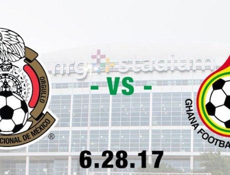 partido amistoso entre México y Ghana