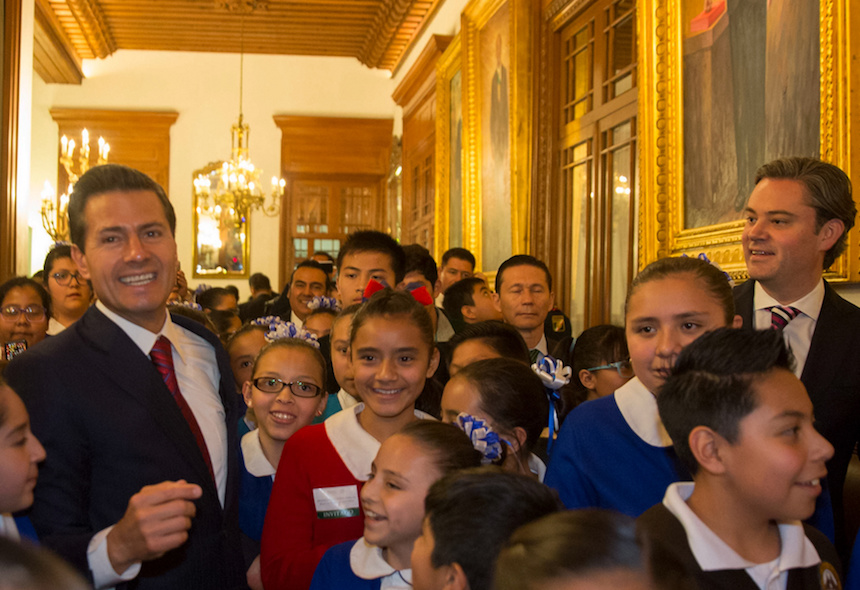 Aurelio Nuño y Peña Nieto presentan nuevo modelo educativo