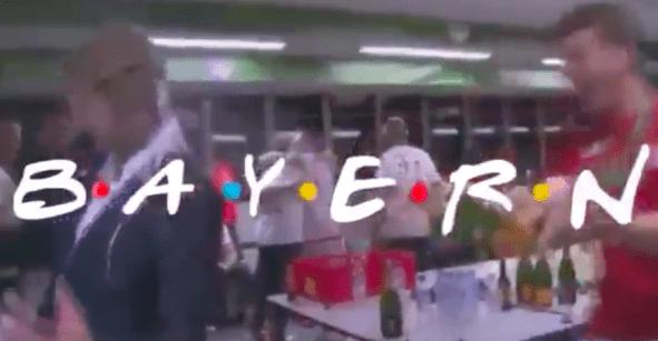 Jugadores del Bayern Munich interpretan el intro de Friends