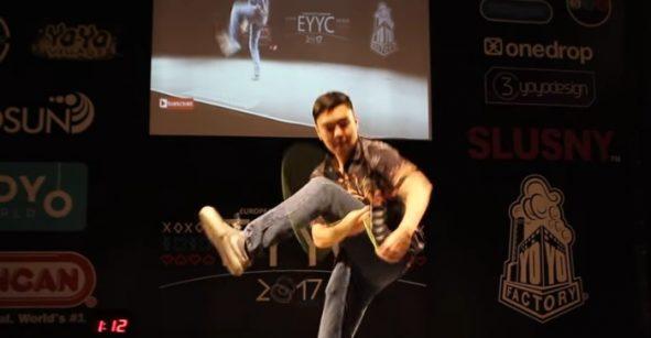 """Y tú que ni el columpio haces: checa la rutina del """"Campeón Europeo de Yo-yo 2017"""""""