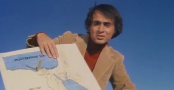 Carl Sagan explica en este video por qué la Tierra es redonda