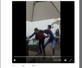 Captura de pantalla del video de Twitter de la PGJDF