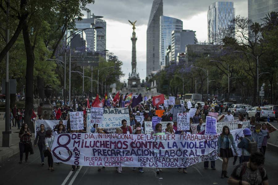 #NosotrasParamos: Mujeres salen a marchar este Día Internacional de la Mujer