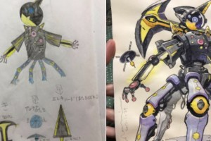 Padre mejora los dibujos de sus niños