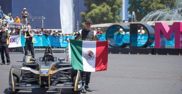 Las mejores imágenes de Esteban Gutiérrez corriendo su Fórmula E en Reforma