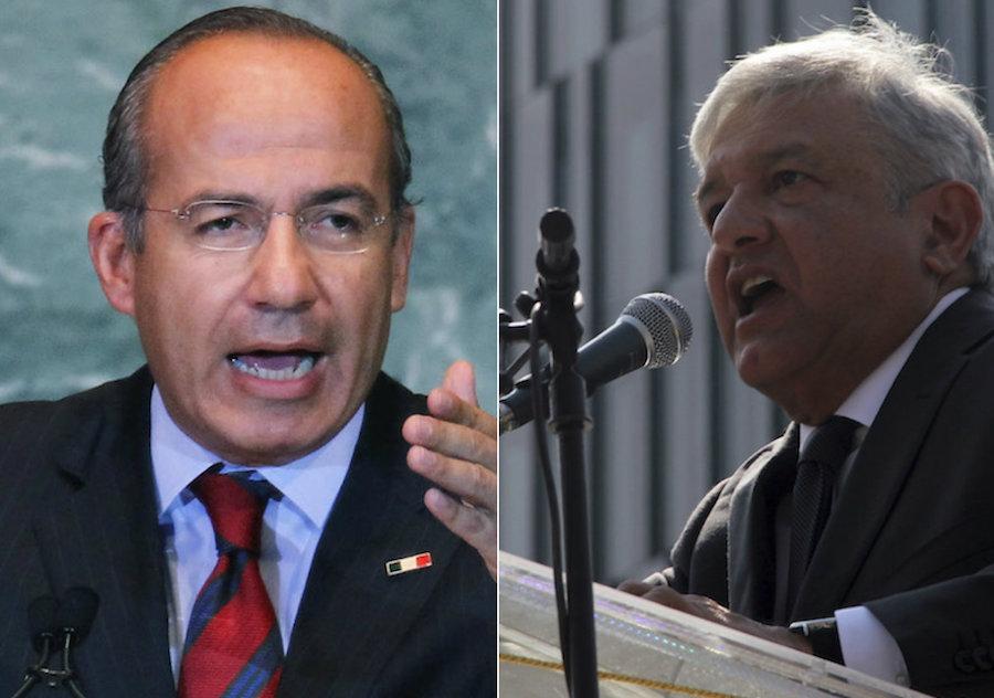 Felipe Calderón y Andrés Manuel López Obrador