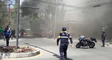 Corto circuito provoca incendio en oficinas en Polanco