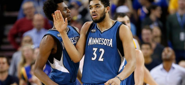 Karl-Anthony Towns, de los Minnesota Timberwolves
