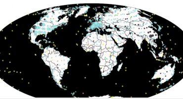 ¡Un mapa que te muestra todos los fósiles de dinosaurios encontrados en la Tierra!