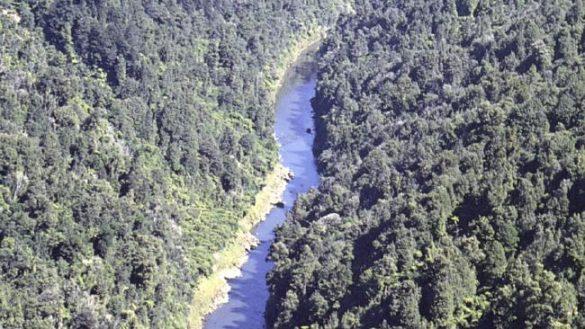 Vista aérea del río Whanganui