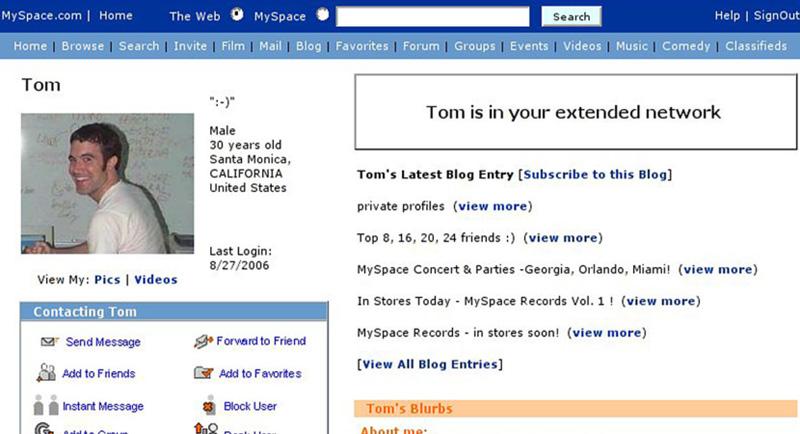 Tom de MySpace