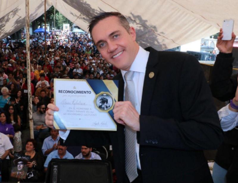 El exdelegado de Cuajimalpa, Adrián Rubalcava