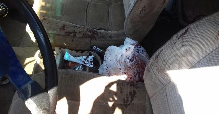Vehículo en el que civil fue herido por Marina