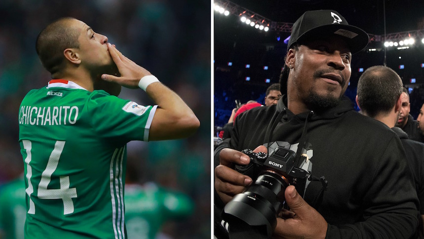 Chicharito y Marshawn Lynch