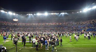 Las imágenes de la violencia entre afición del Olympique Lyon y Besiktas