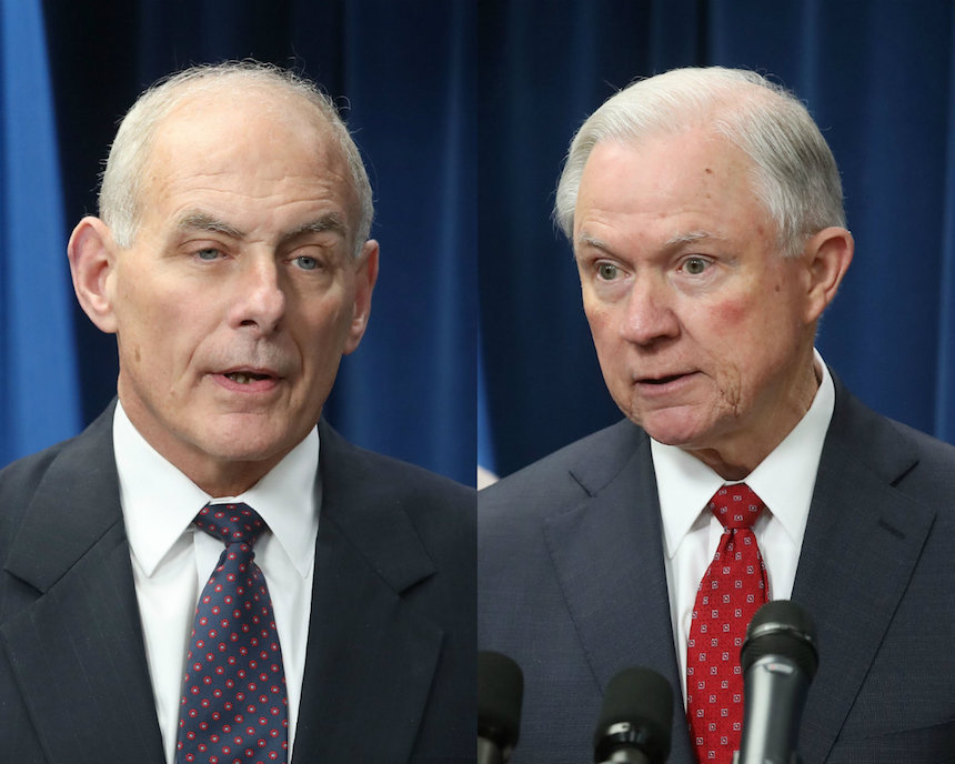 Jeff Sessions y John Kelly