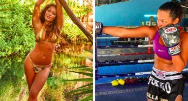 De los bikinis al ring: la modelo que se convirtió en kickboxer