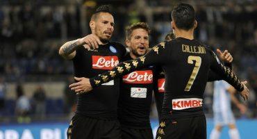 Aquí los goles del triunfo del Napoli sobre la Lazio