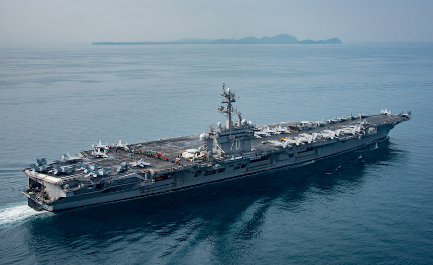 La armada nuclear enviada por Trump a Corea del Norte tomó el rumbo contrario