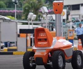 Robot de seguridad en Singapur