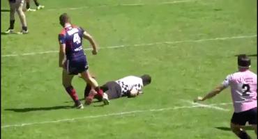 Video: tremenda paliza de un jugador de rugby al réferi
