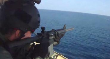 Piratas de Somalia vs un barco con guardias de seguridad privada