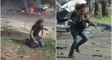 La historia del fotógrafo que dejó su cámara y trató de salvar a un niño en Siria