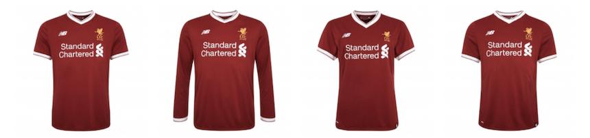 Uniforme del Liverpool de 125 años